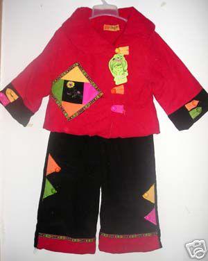 儿童喜庆唐装棉衣,过年必穿