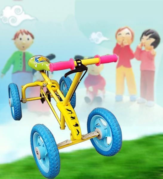 市场上有很多儿童类似产品,如自行车、滑板、溜冰鞋等都是现在小朋友锻炼、娱乐不可少的产品,但这些产品往往很难操控,速度亦难以把握,存在较多安全稳患。 本品安全可靠、具有娱乐、智力、锻炼健身等特点。本车使用于3-12周岁的儿童,该车和一般童车的最大区别在于可随意拆装,携带方便,车身随意拉长缩短,刹车灵敏可靠,只要不拉操纵杆,轮子可立即停止运转,即可前进,即可后退,进退自如,转向灵活,儿童坐在坐垫上,脚踏在脚板上,然后用双手抓住摇臂向前往后摇,车体即可向前或往后运动。由于它特殊的结构设计,在慢速运动中可对儿童的