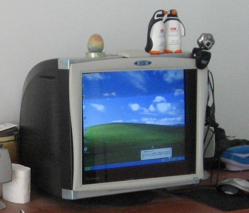 17寸优派G75fCRT显示器 爱目之镜视保屏
