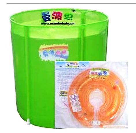 台湾曼波鱼屋婴儿游泳池支架折叠式套装70*70cm (可以货到付款)