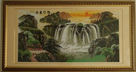 旭日东升-KS十字绣-图纸绣品表柱标高个人图片