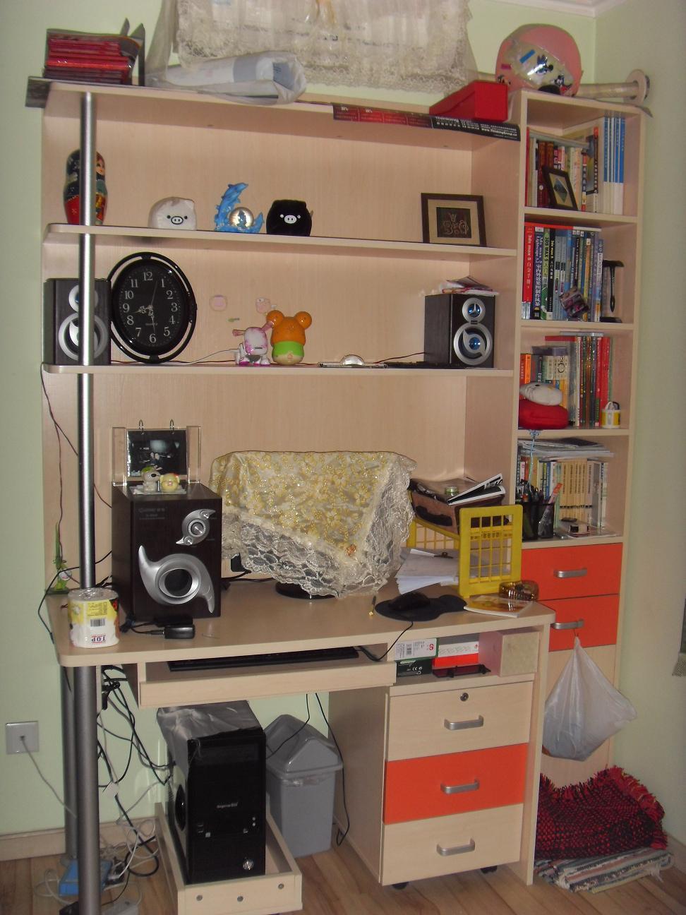 电脑书架装修效果图图片大全 书柜电脑桌 wr044310 装修图