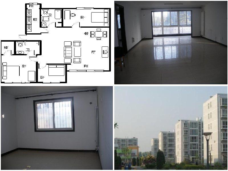 田园风光,135平米简装修大三居出售,房子户型,采光,楼层,位置高清图片