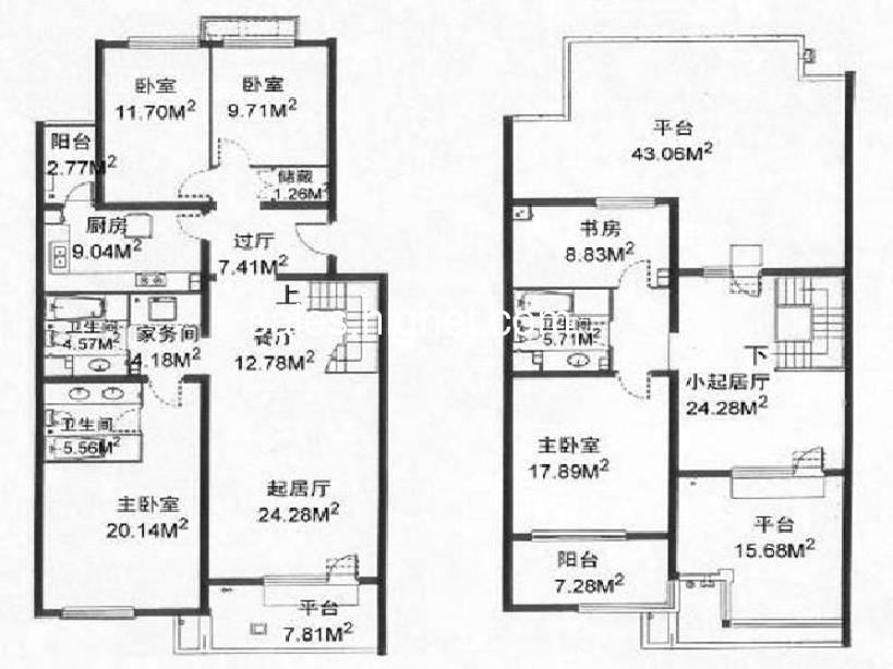 120平方房子二楼设计图展示