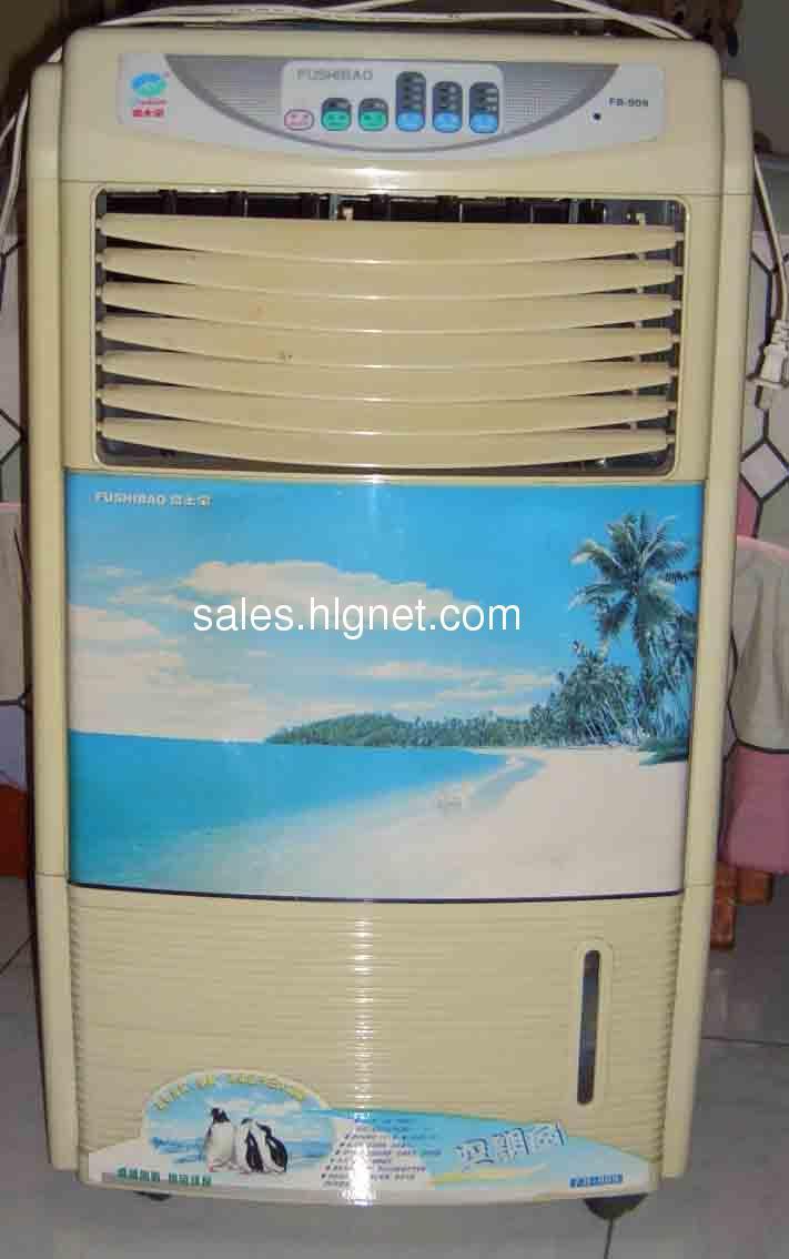 请大家看清楚,不是空调,是空调扇.最近因为装了空调,所以没有用,闲置了,所以是二手的.富士宝FB-909,加水,加冰.富士宝是好牌子哟~ 100转让,请自己来提货.八九成新 功率:90W 最大注水量:12L 整机净重:7KG 外形尺寸:410*280*720mm 配置:空调扇整机1台, 功能介绍: 1、制冷降温:采用高科技蓝冰制冷,出风温度将比环境温度低至8-10度,特别是在干热的地区,使用本机效果更为明显。 2、常温送风: 3、加湿功能:在干燥的地方和季节使用本机加湿效果更为明显。它可以保持房间一定的湿