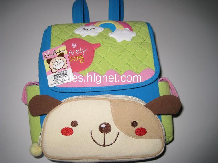 新款韩版hx-design儿童布艺双肩背包图片