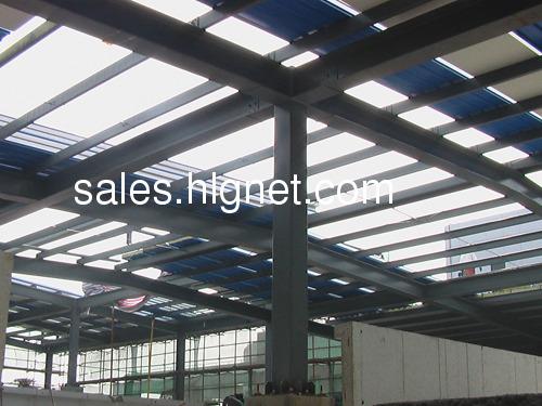 全钢结构:钢梁上铺普通碳钢钢板(花纹板,平板,结构钢板)北京钢结构