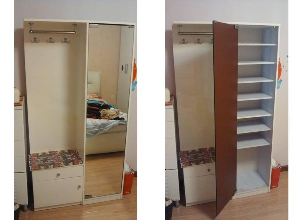 进门鞋柜挂衣服效果图 超低价转让鞋柜一个